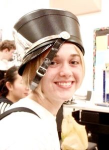 Abby Denison in a marching band outfit in high school. Photo courtesy Abby Denison.