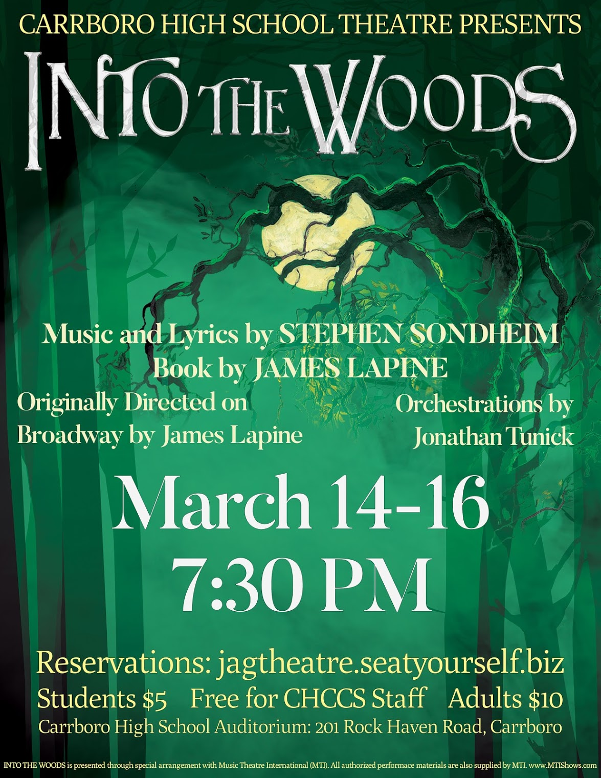 Into the theatre for Into the Woods