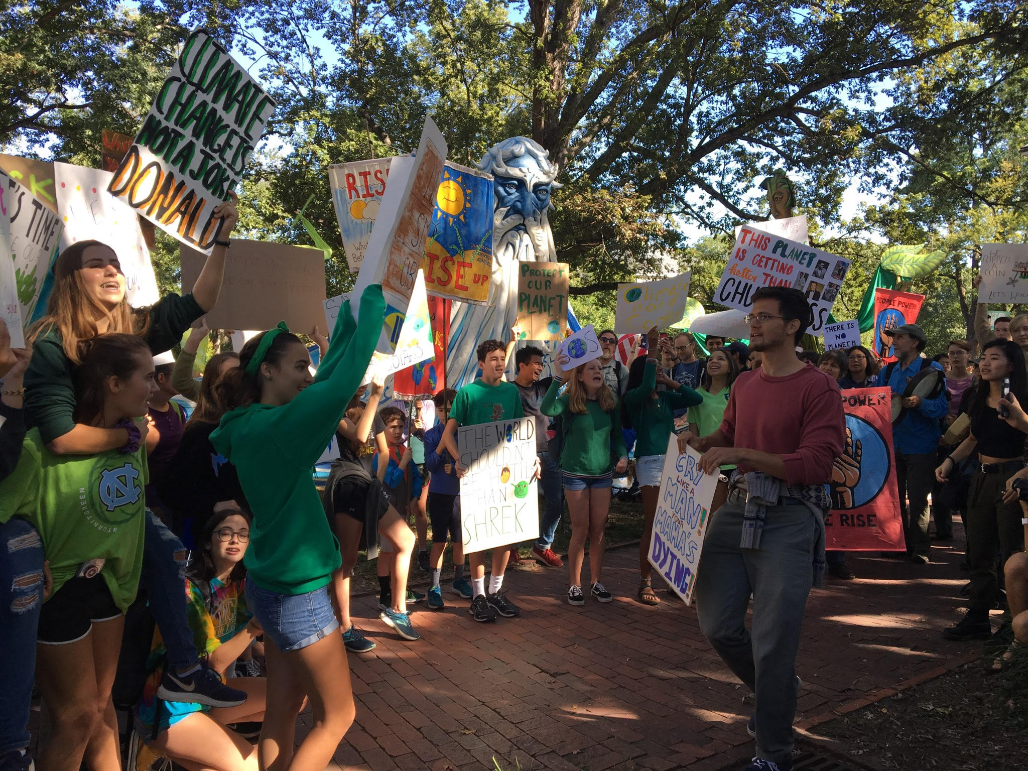 CHS students walk out to raise awareness about climate change, joining thousands worldwide