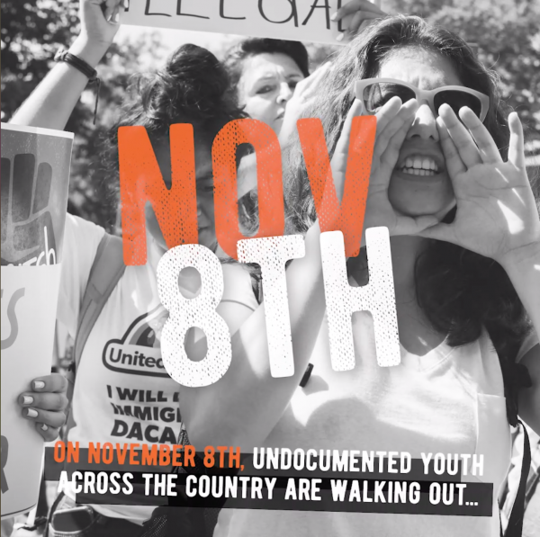 DACA students and allies walk out on Friday all over the country before SCOTUS hearing on immigration rights.