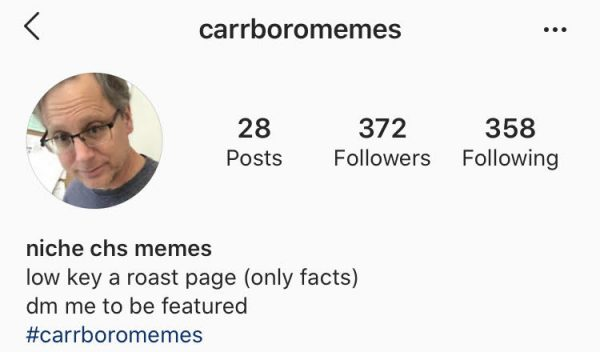 Anonymous Instagram Account Posts Memes About Carrboro High School