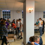 Students gather at day of service